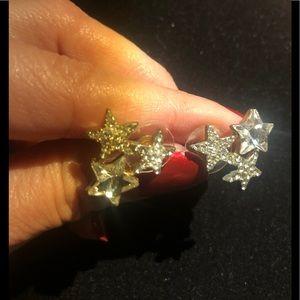 Gorgeous Anthropologie tri-Star earrings